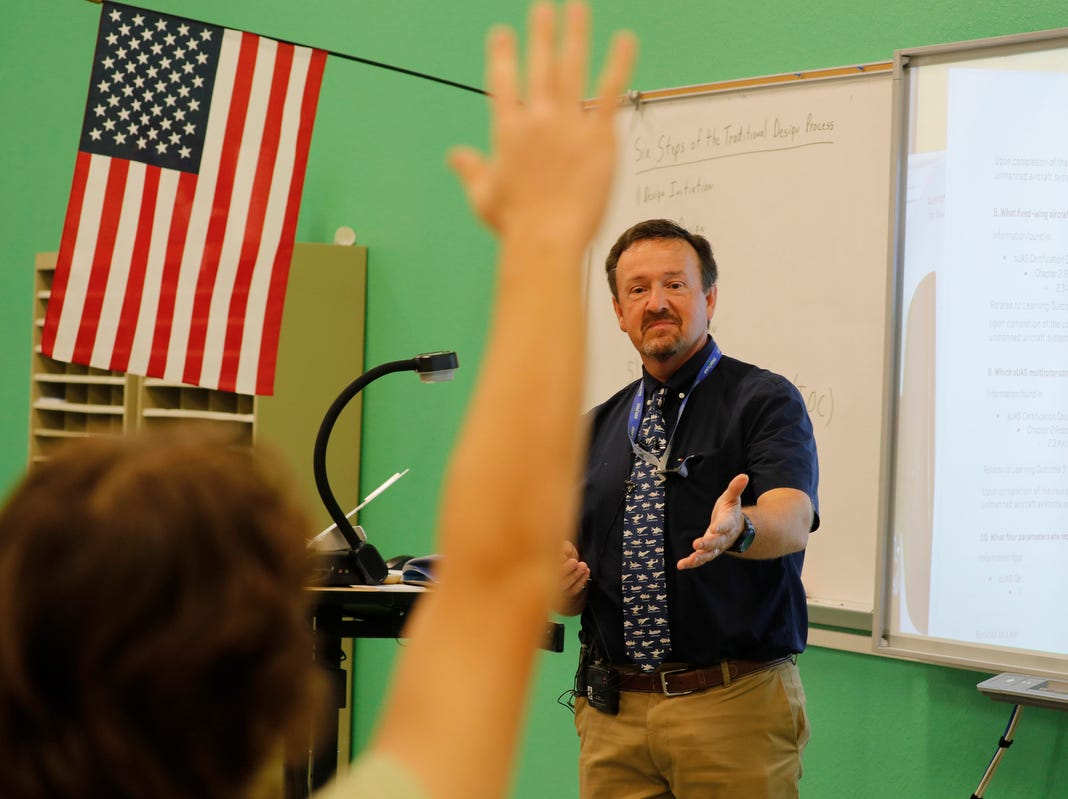 Todd Callahan is Bonita High School's aerospace teacher. The school has an Aerospace Academy offering a four-year program that teaches students the basics about aviation and gives them a chance to get theirÊprivate pilot's license.