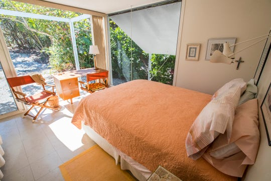 The only bedroom in the guest house. The Walker guest home and main home on Sanibel.