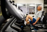 Jack Overpeck, 95, a U.S. Navy veteran, goes to the gym five times a week.
