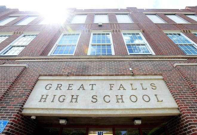 Great Falls High School entrance.