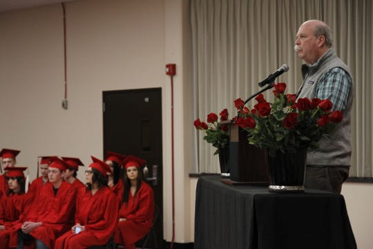 Principal Drew Uecker described this winter class as one that dealt with many obstacles, but came out successful through it all.
