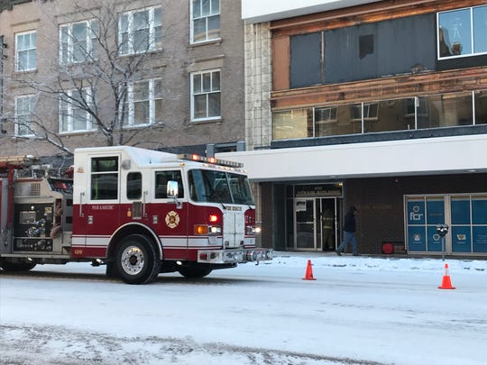 The Strain Building at 410 Central Ave. was evacuated Thursday, Feb. 7, 2019 after a report of a gas leak.