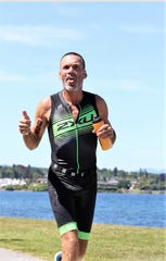 Craig Weymouth competes at a half-Ironman triathlon at Lake Taupo New Zealand in December 2018. He finished 11th out of 58 in his age group in his first time racing this distance. Weymouth will also represent Guam in July at the Pacific Games in Samoa.