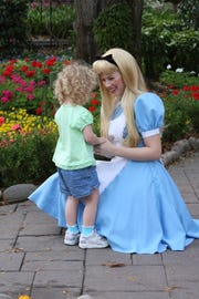 Sarah Daniels played Alice in Wonderland at Epcot Theme Park.