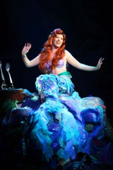"Sarah Daniels sang as Disney princess Ariel in ""Voyage of the Little Mermaid"" at Walt Disney World Resort. She is pictured here a few weeks after she said two Disney higher-ups told her ""silhouette"" needed to match Ariel's."