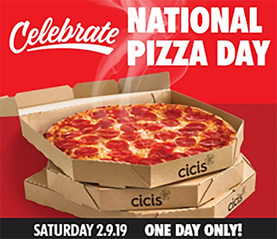 National Pizza Day is Feb. 9.