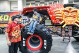Eleven year old James Egold meets Max-D driver Tom Meents and gets a Monster Jam room makeover on Thursday, Jan. 7, 2019.
