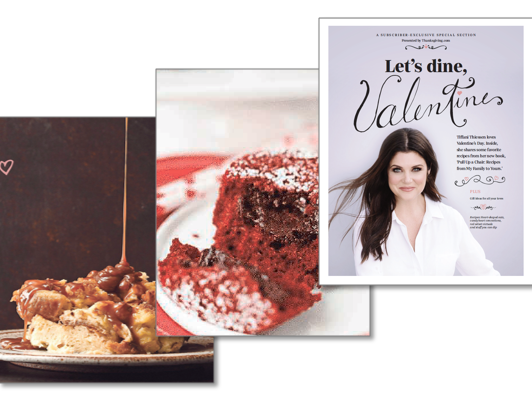 Recipes, gift guide, rom-com list and Tiffani Thiessen shares recipes and tips from new cookbook.