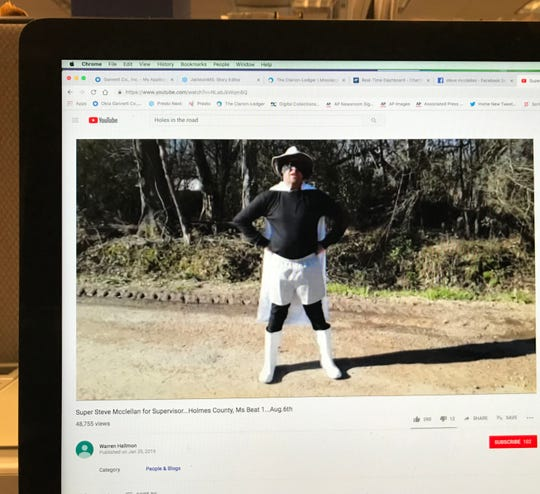 Steve McClellan is shown in this photo of a YouTube page.
