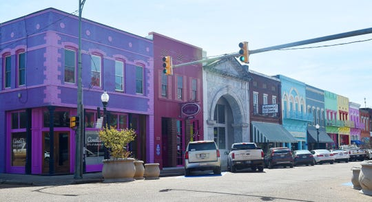 Downtown Yazoo City is shown in this 2018 photo.