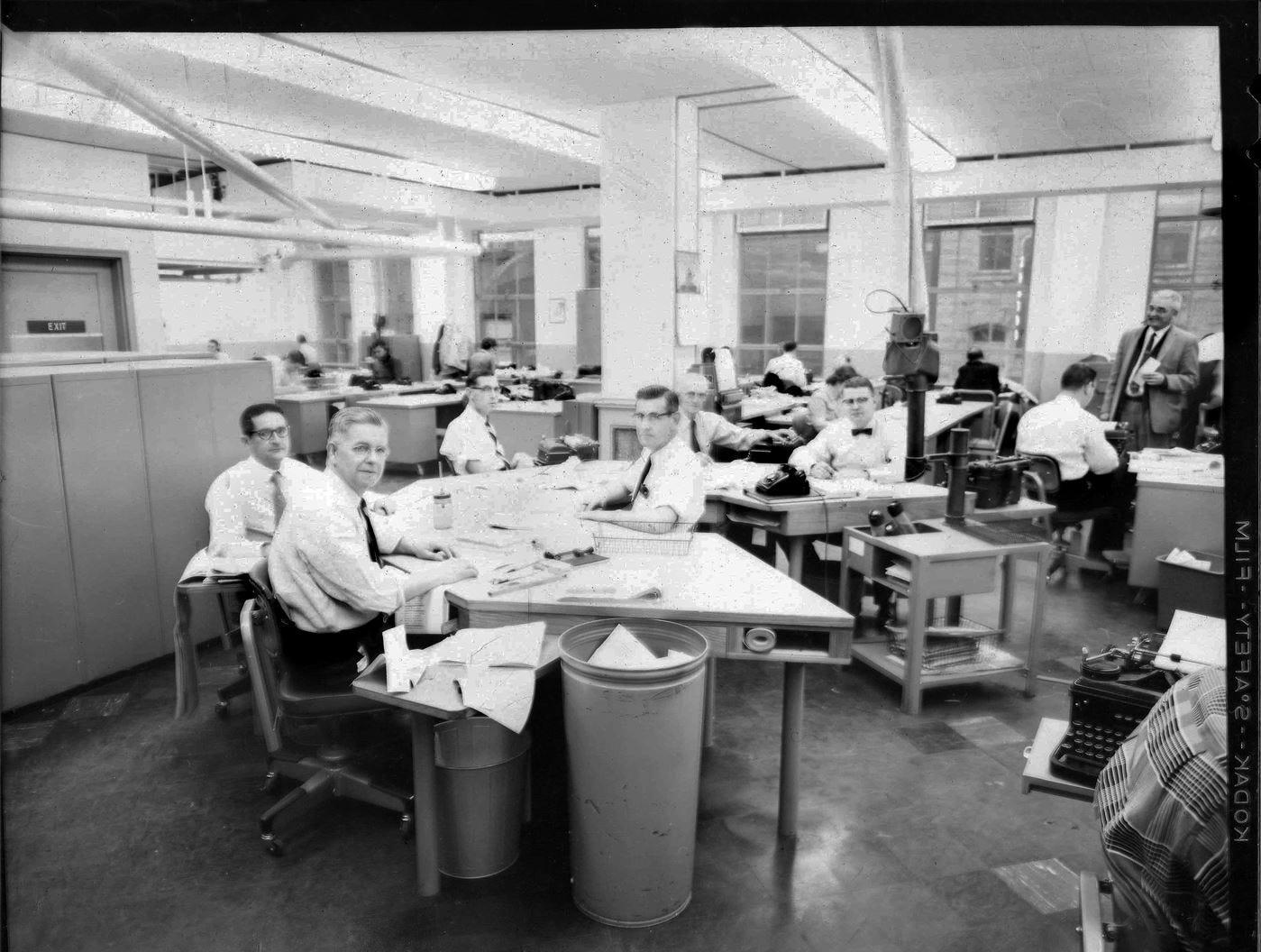 Knoxville News Sentinel Newsroom - Undated photo