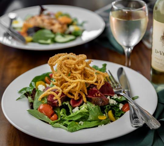Finn's Restaurant's Black and Blue salad.