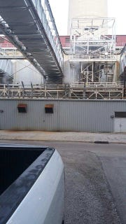 A worker who provided this photo to the Knoxville News Sentinel says it shows flue gas, which contains fly ash, nitrogen and other pollutants, escaping into the air in January at the TVA Kingston Fossil Fuel Power Plant.