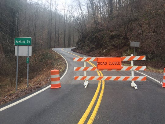 A portion of State Road 66 in Hawkins and Hancock counties is closed due to a slide that occurred early on Thursday morning after heavy rain.