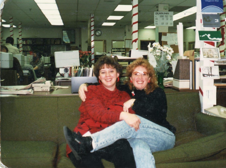 DeeDee Constantine, typist, and Donna Colburn