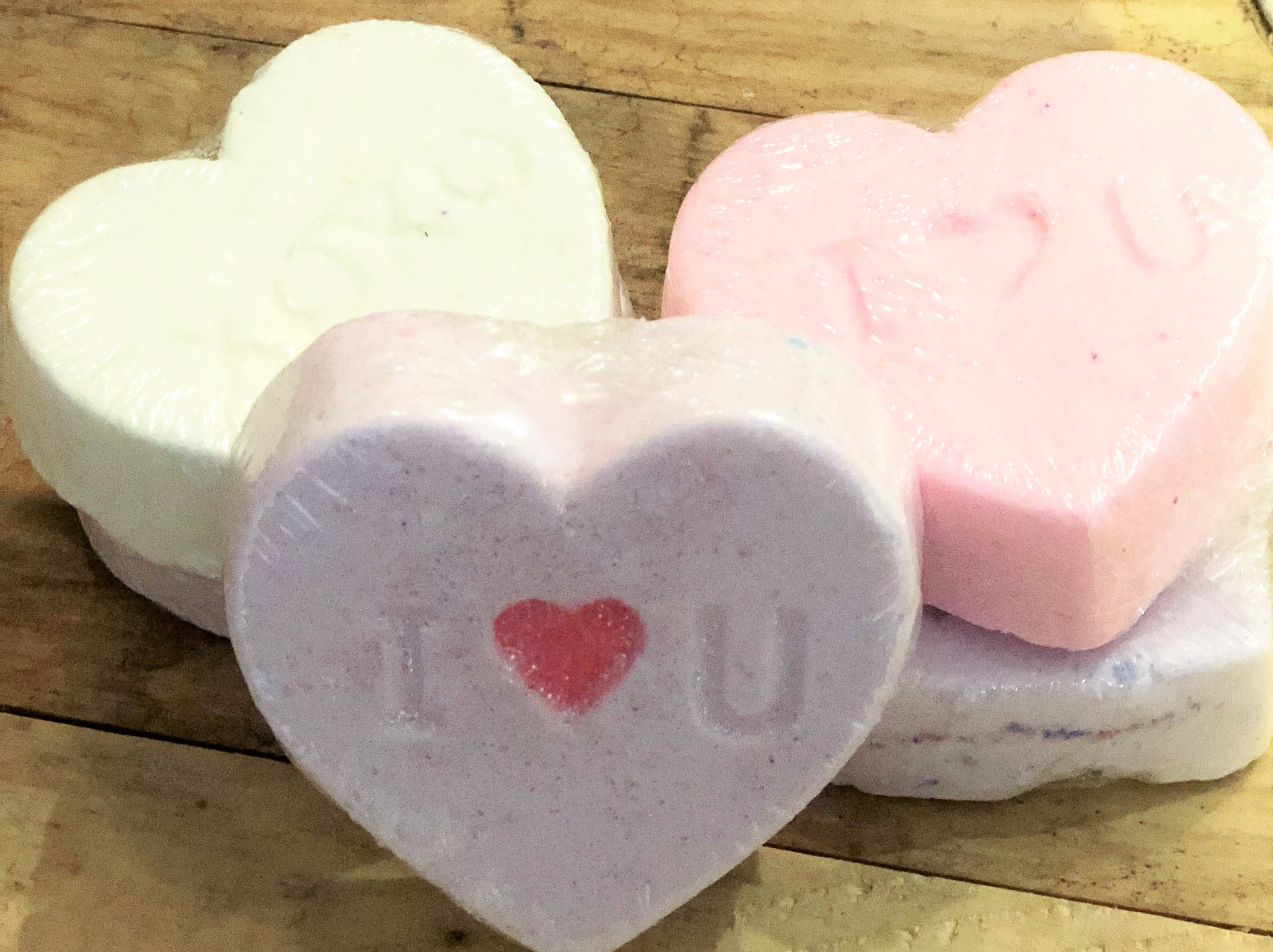 After The Bath Lab conversation heart bath bombs sold out online, creator Josh Ray has restocked in time for Valentine's Day shoppers at Jacks of Knoxville.