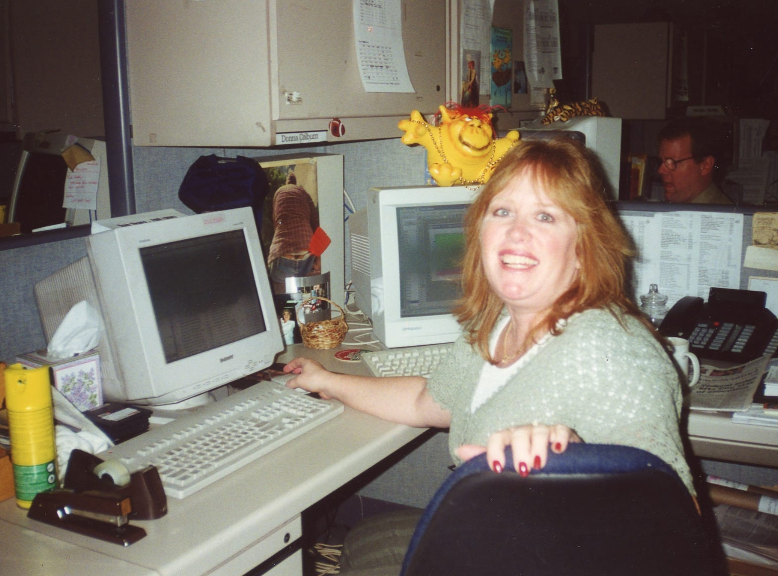 Donna Colburn, newsroom receptionist.