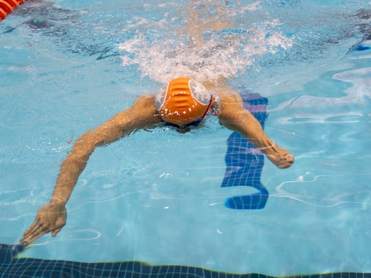"""I was born this way,"" Ben Ramirez said, ""so I don't know any different. I'm not envious (of swimmers with two arms)."""