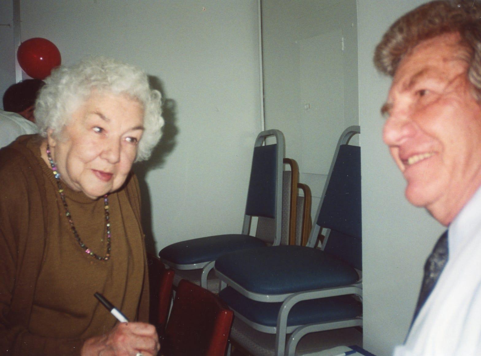 Jack Kirkland, right, former photographer, and Ruth Thompson, copy editor.