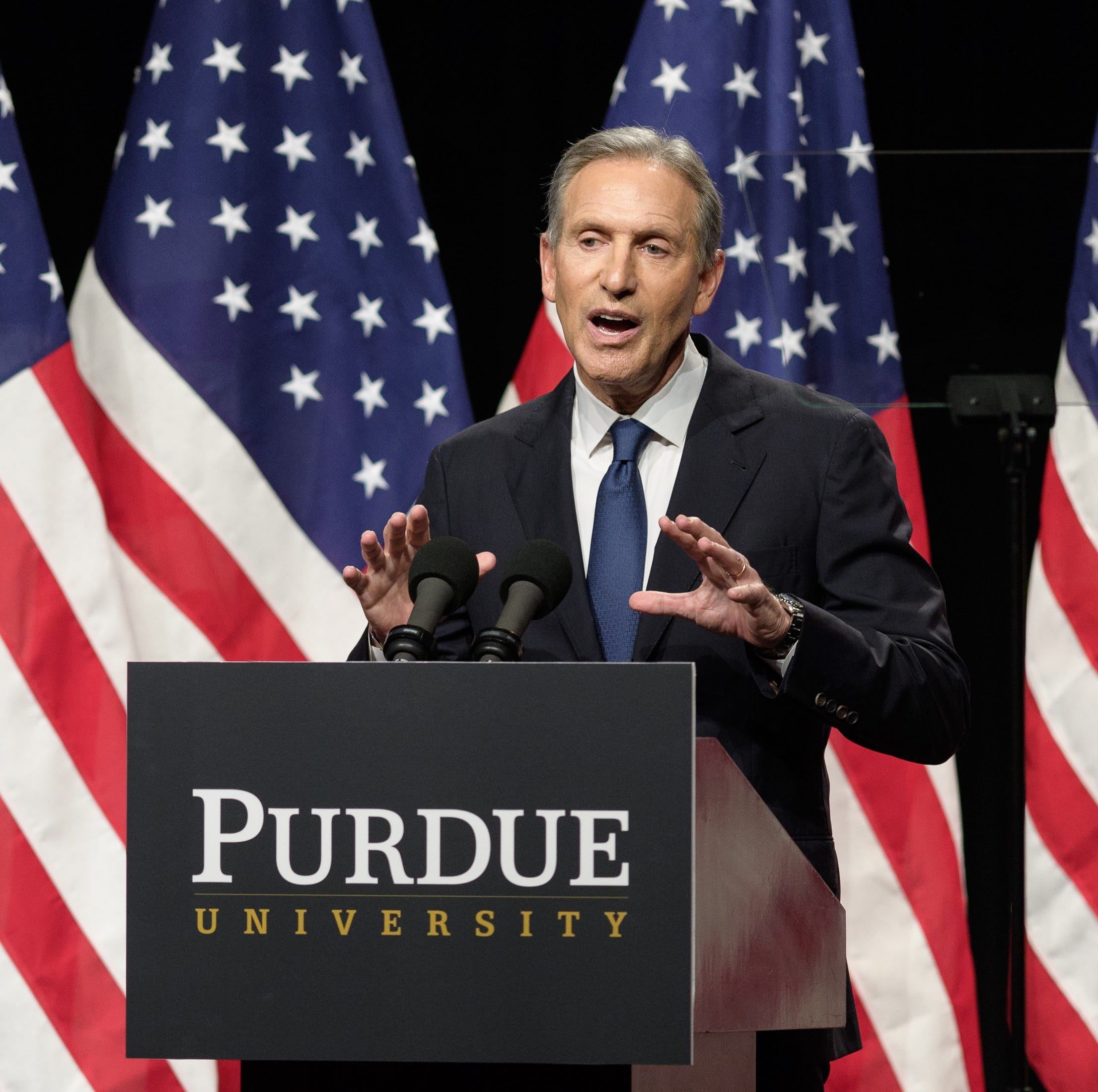 Costs in for ex-Starbucks CEO Howard Schultz's not-a-presidential-campaign stop at Purdue
