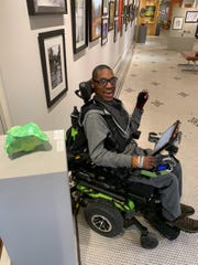 """McCutcheon High School student Ian Humphrey won an award from the Greater Lafayette Clay Guild for his ceramic work, """"Green Leaf,"""" which is on view in the Artists' Own High School Art Show through Feb. 16."""