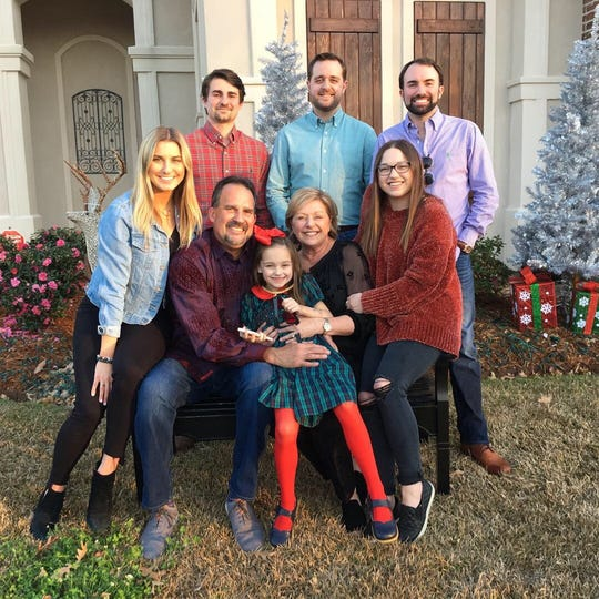 Garrett O'Connor shown with his wife, five children and one grandchild.