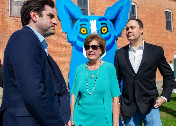 Gov. Kathleen Blanco at  the groundbreaking for the George Rodrigue Park and the dedication ceremony with Jaques and Andre Rodrigue  Thursday, Feb. 7, 2019.