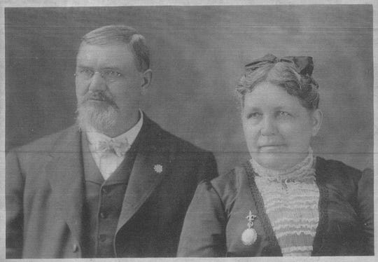 A. G. Miller (1846-1908) and his wife Wilhelmina (1849-1928) are shown in this undated photo. Miller was Lancaster's first plumber and owned the properties at 208-210 W. Main St.