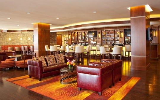 The bourbon bar at Louisville Marriott East.
