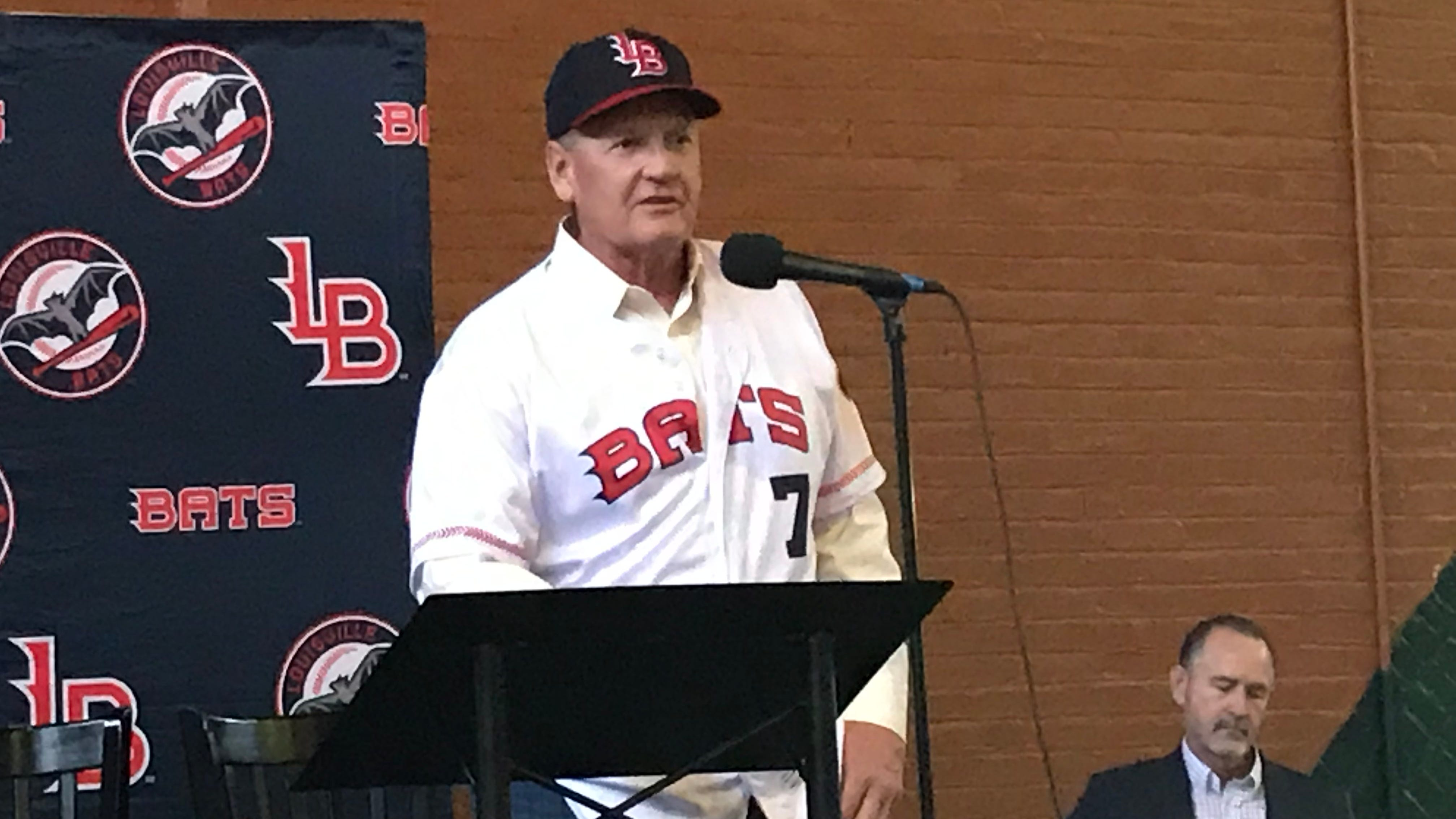 Jody Davis was introduced as the Louisville Bats' 21st manager on Feb. 7, 2019.