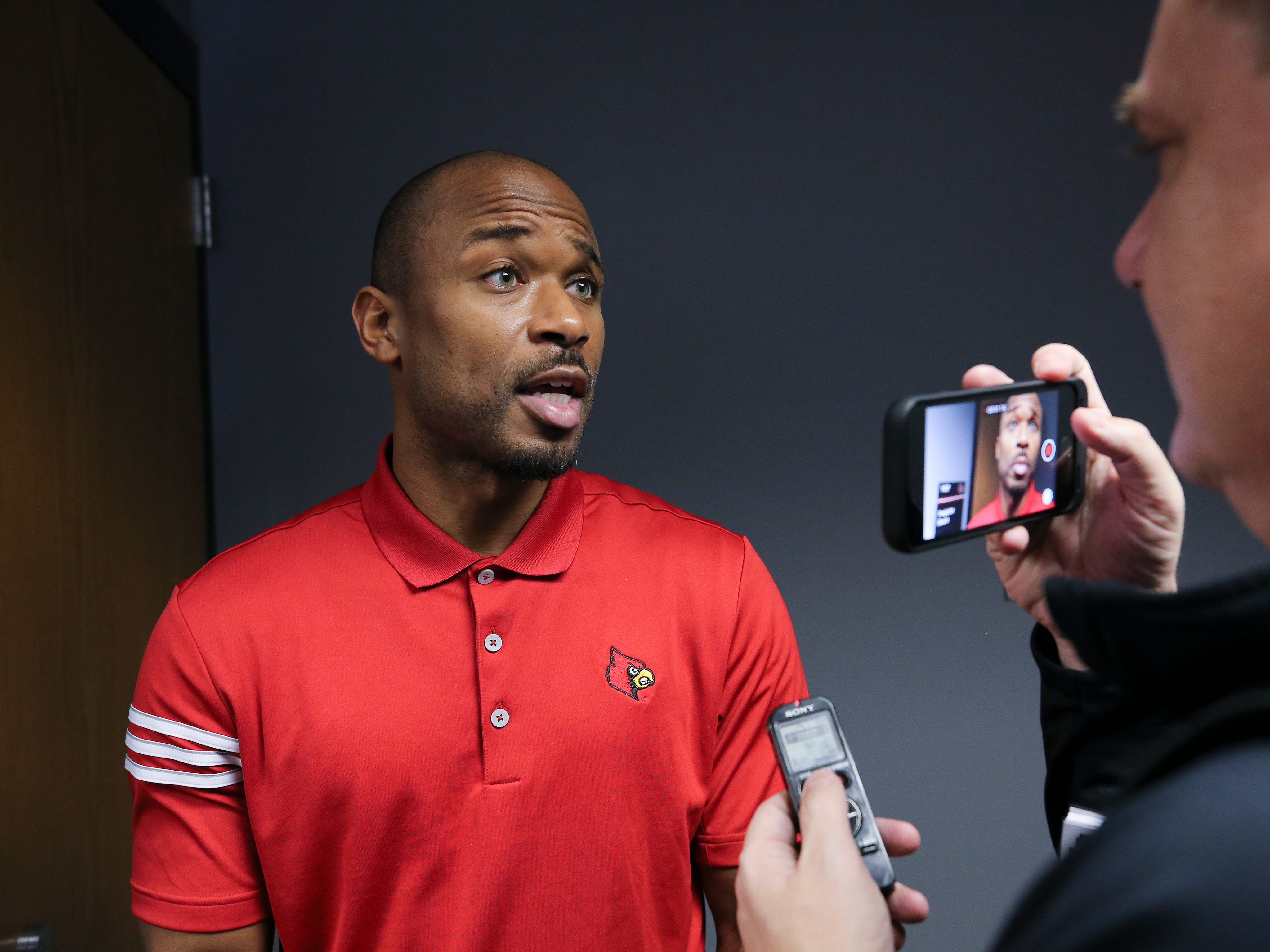 Louisville assistant coach Norval McKenzie talked to the media on college football signing day.Feb. 6, 2019