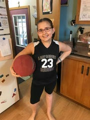 Rory Springstube, 9, was diagnosed with neurofibromatosis three years ago and developed a brain tumor as a result. She hasn't let that keep her off the basketball court despite vision loss caused by the tumor.
