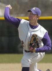 Jordan Zimmermann delivers a pitch in 2004 during action against UW-Stout at University Field. He made a donation along with his wife of $500,000 to the Pointers baseball program. The baseball field will be called Zimmermann Field going forward.
