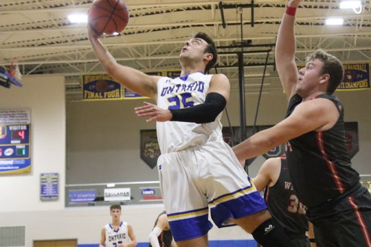 Ontario's Parker VanArsdalen scored a career-high 16 points to lead the Warriors to a win over the Shelby Whippets on Wednesday night.