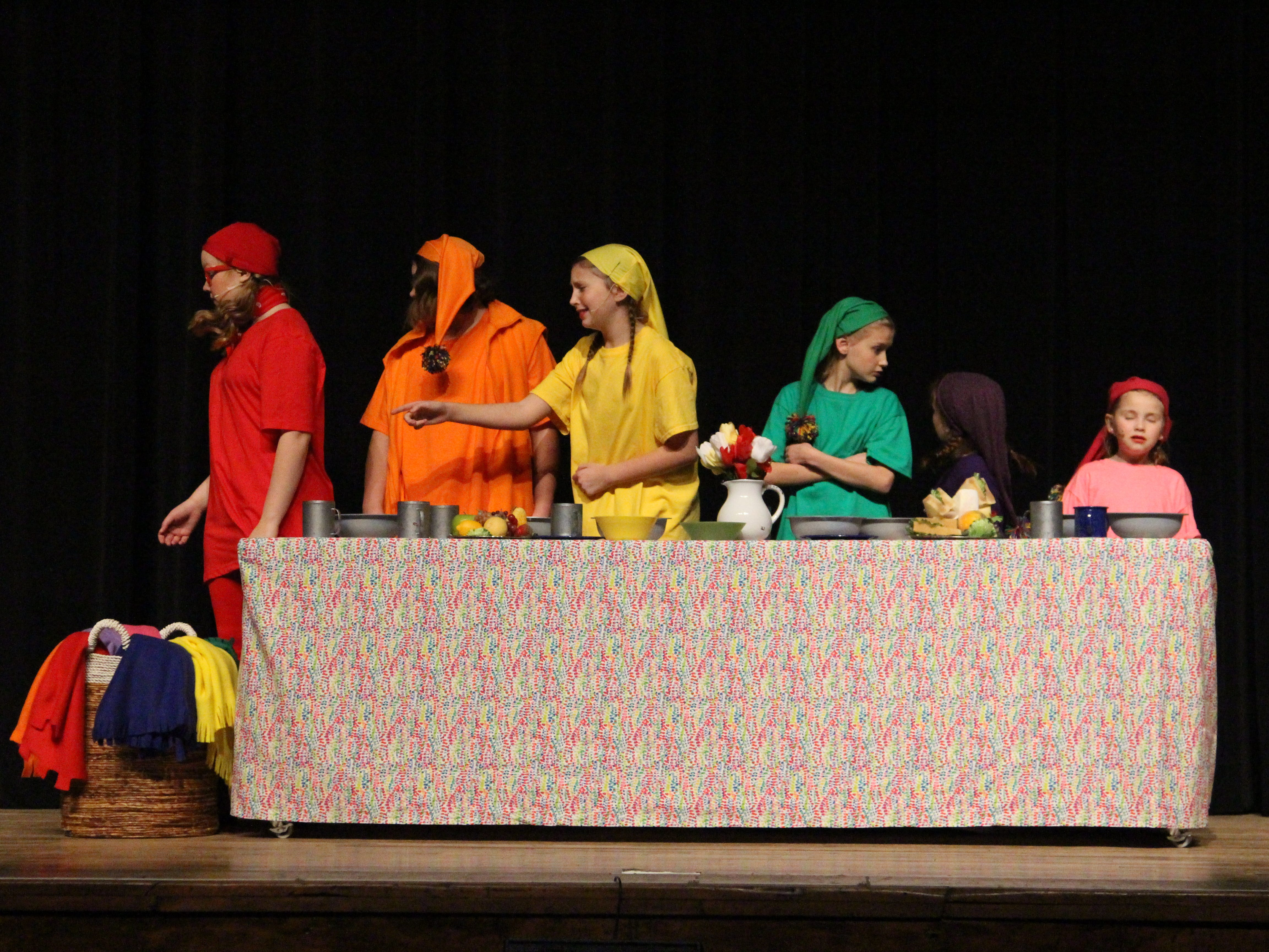 """The dwarves notice Snow White lying in their home in the Marion Palace Theatre's production of """"The Tale of Snow White,"""" an adaptation of the classic fairy tale. Showtimes are at 7:30 p.m. Friday and Saturday, Feb. 8 and 9 and at  2 p.m. Sunday, Feb. 10."""