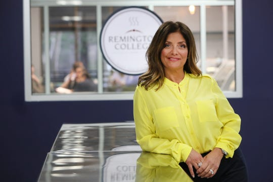 Kathy Wakile, known for her role in The Real Housewives of New Jersey, in the kitchen of a new culinary facility at Remington College where she has partnered with the school for the program.