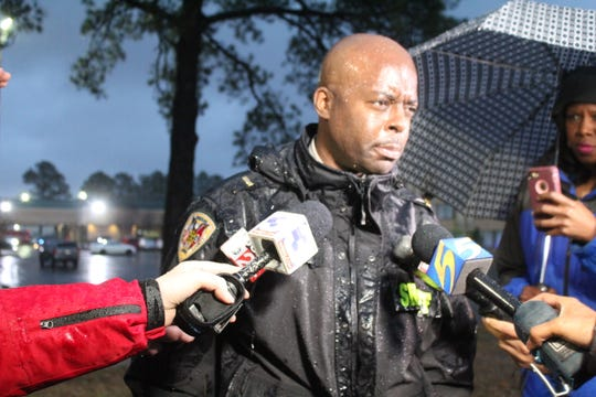 Shelby County Sheriff's Office spokesperson Anthony Buckner speaks to media after an officer-involved shooting in Northeast Memphis on Thursday, Feb. 7, 2019.