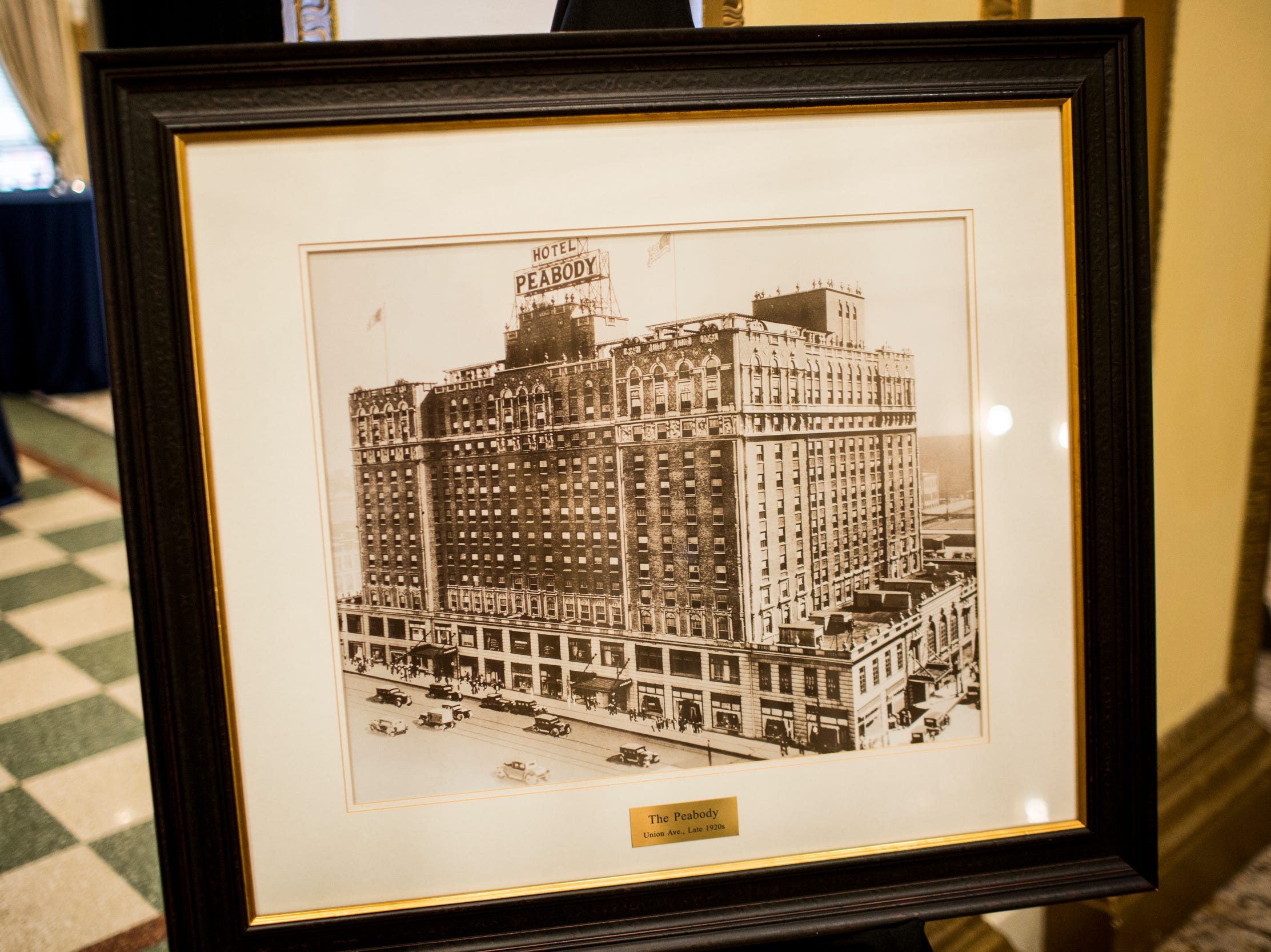 February 06, 2019 - A historic photo of The Peabody was on display during The Peabody 150th anniversary media launch party. The Peabody Memphis will celebrate its 150th anniversary in 2019 with a series of special offers and events.