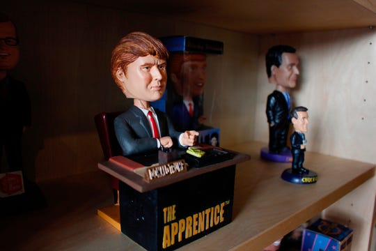 "A bobblehead depicting Donald Trump from the TV show ""The Apprentice,"" is on display at the National Bobblehead Hall of Fame and Museum in Milwaukee. The bobblehead says ""You're fired"" upon the press of a button."