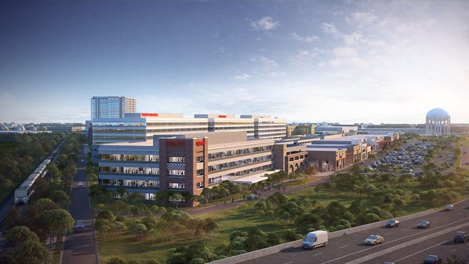 Up to 360,000 square feet of new office buildings are planned at Mayfair Collection.