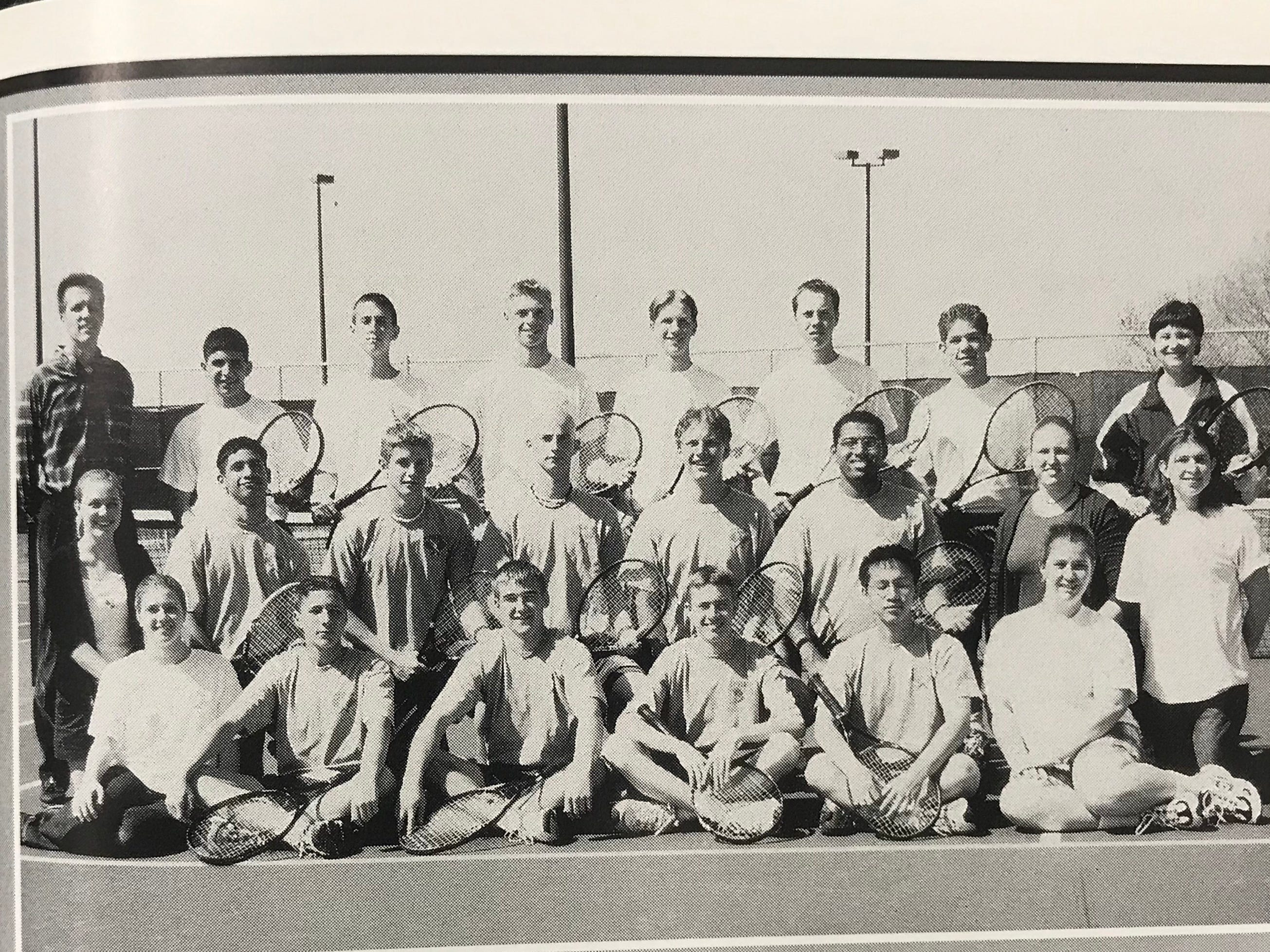 Milwaukee Police Department Officer Matthew Rittner (back row, second from the right) graduated from Greenfield High School (GHS) in 2001. During his time as a student at GHS, Officer Matthew Rittner participated in tennis.