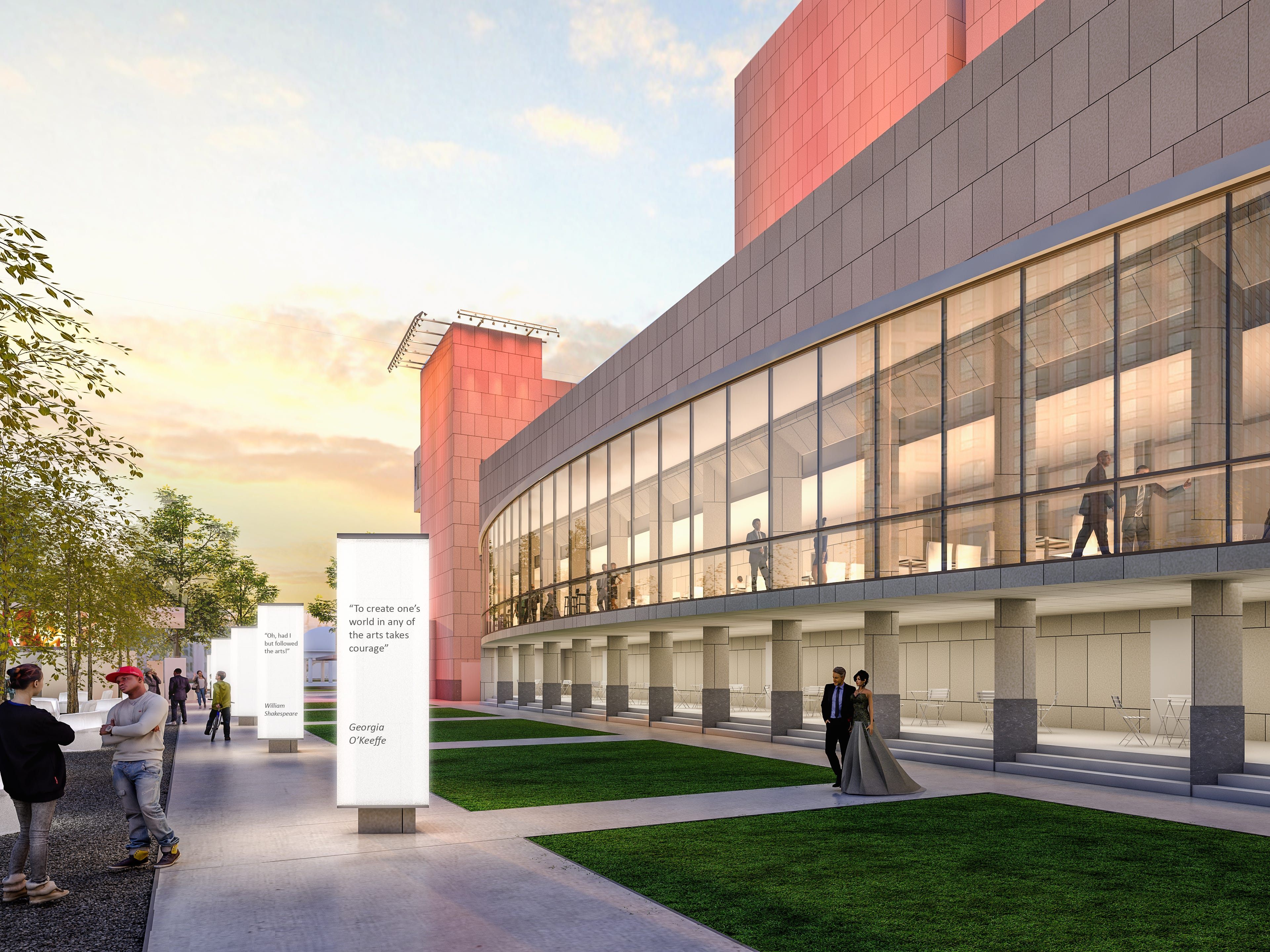 Construction of a new Marcus Center donor lounge, which officials hope to open by September, could be delayed by the facility's historic designation.