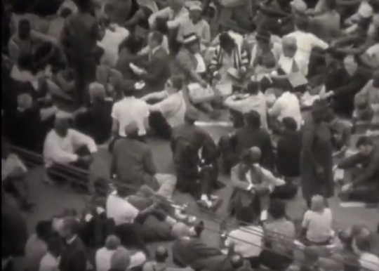 """State of Alabama,"" a racist 1965 film attacking civil rights groups, used footage commissioned by the Alabama Sovereignty Commission and other state agencies to track participants. This raw footage from the commission was similar to the footage in the film, heavily weighted toward crowd shots."