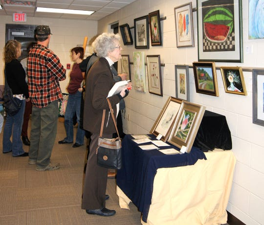 The community has the opportunity to view a collection of artwork by local artisans at the Fairview Public Library through February.