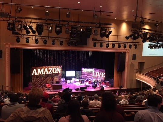 """At the Feb. 6""""Amazon: Live at theRyman"""" event, Dave Clark, senior vice president of worldwide operations, who has Tennessee ties,said: """"We are here for the long haul."""""""
