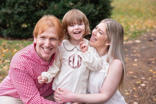 Dave and Mackenzie Lober with their son, Ephraim.