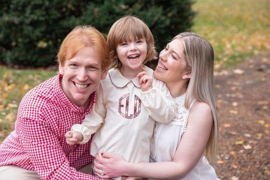 Dave and Mackenzie Lober with their son, Ephraim.