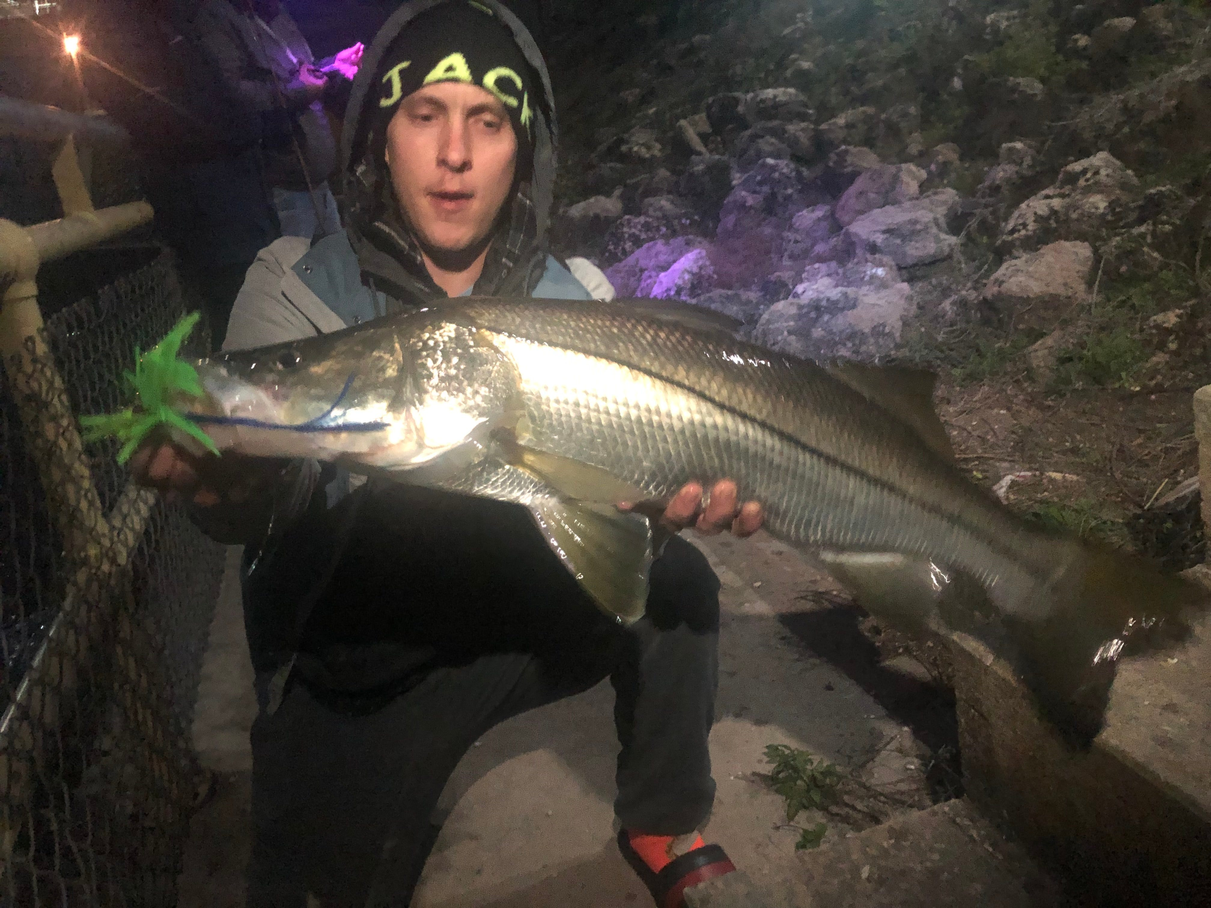 C.J. Shotwell with a cold front snook during the full/blood moon.