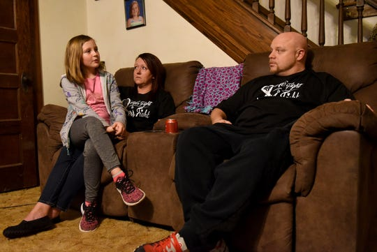 Sydney Gunton talks about her stay at Nationwide Children's Hospital while sitting with her parents Jennifer and Jamie Gunton. After severe headaches Sydney was found to have a brain aneurysm in January of 2019.