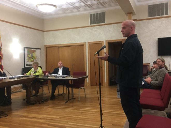 Granville Township Fire Chief Casey Curtis describes immediate Hplex cost impacts that will affect his department prior to council's Feb. 6 vote on a tax subsidy for the planned medical complex.